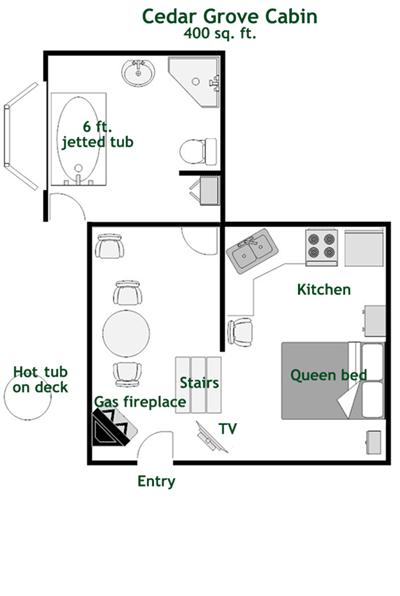 Cedargrove Cabin Floorplan