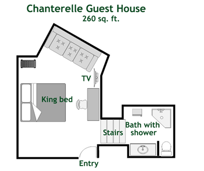 Chanterelle Guest House Floor Plan