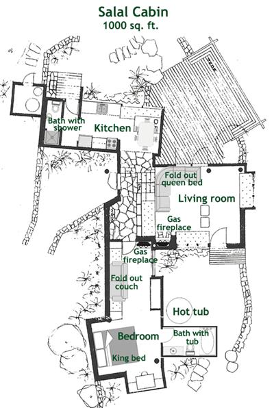 Salal Cabin Floorplan